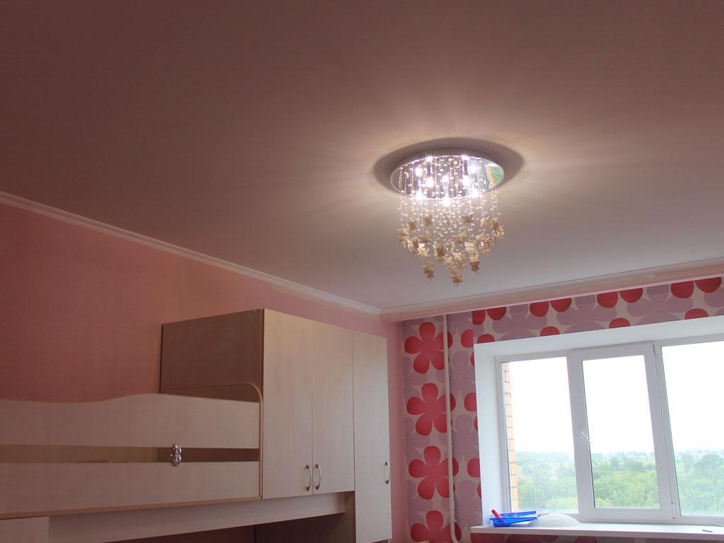 Сатиновые натяжные потолки в детскую комнату, натяжные потолки дизайн фото
