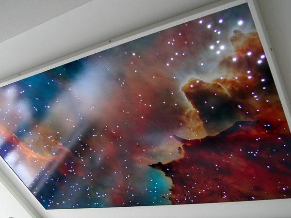 Натяжна стеля зоряне небо