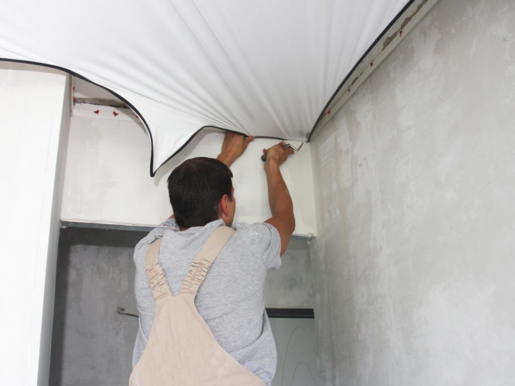 Заміна і ремонт полотна натяжної стелі ціна Вінниця