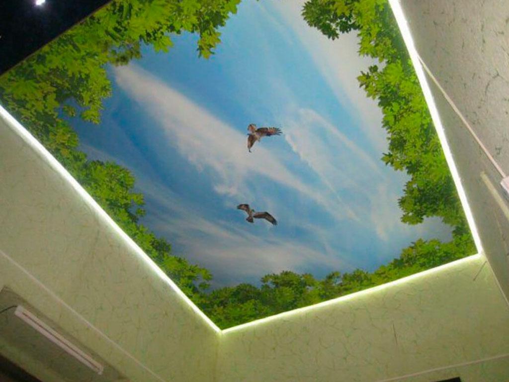 Летючі натяжні стелі