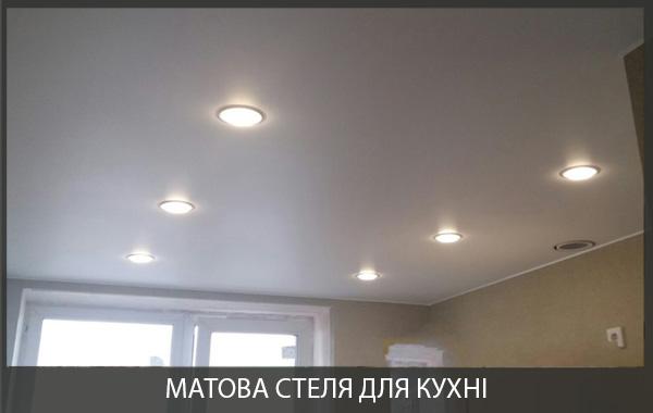 Натяжна стеля в кухні фото