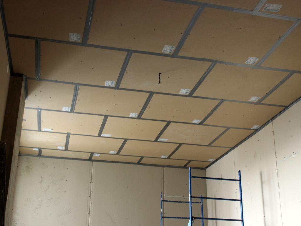 Шумоізоляція стелі пінополістиролом перд монтажем натяжної стелі