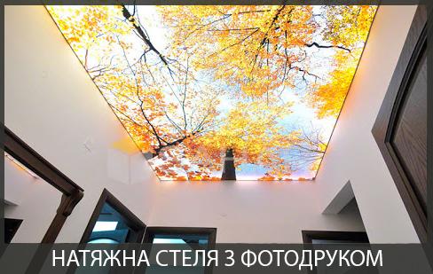 Натяжні стелі з фотодруком фото