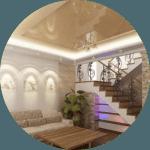 Знижка на натяжні стелі в котеджі в Вінниці зі знижкою